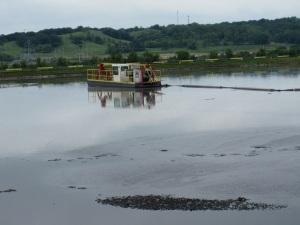 The Hot Sludge Lake Boat.