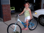 Hope's new blue bike