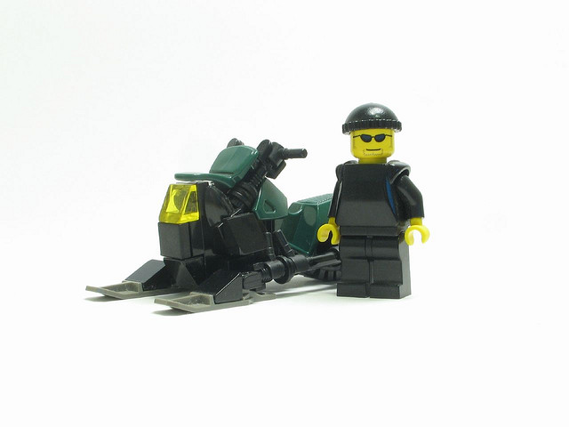 lego snowmobile by Nathan Wells